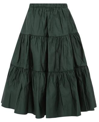 Marc Jacobs Tiered Duchess Satin Skirt - Womens - Dark Green