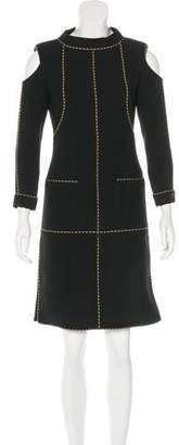 Chanel Funnel Neck Cutout Dress
