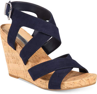 INC International Concepts I.n.c. Women's Landor Strappy Wedge Sandals, Created for Macy's Women's Shoes