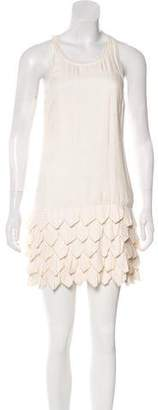 Alice + Olivia Silk Short Sleeve Mini Dress