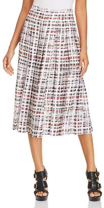 Burberry Farnborough Pleated Midi Skirt
