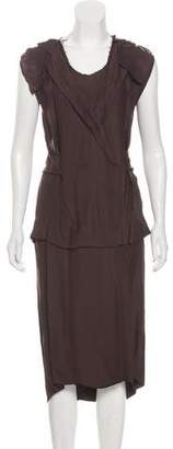 Maison Margiela Distressed Sleeveless Dress
