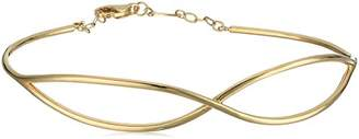 14k Infinity Adjustable Bangle Bracelet