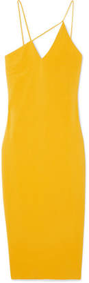 Cushnie et Ochs Asymmetric Stretch-crepe Midi Dress - Yellow