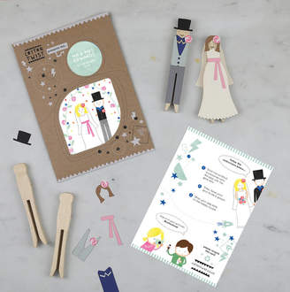 Your Own Cotton Twist Personalised Make Bride And Groom Peg Doll Kit