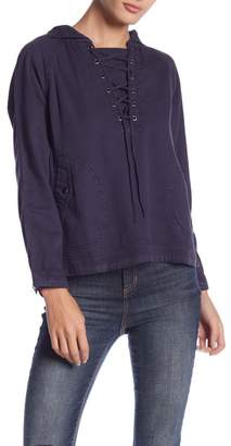 Romeo & Juliet Couture Long Sleeve Woven Hoodie