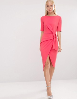 ASOS Pencil Dress with Knot Front Detail $64 thestylecure.com