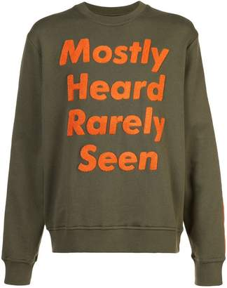 Mostly Heard Rarely Seen logo patch sweatshirt