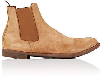 Officine Creative Men's Washed Suede Chelsea Boots - Dk. brown