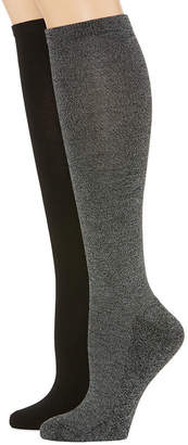 MIXIT Mixit 2 Pk Rayon From Bamboo Pillow Sole 2 Pair Knee High Socks - Womens