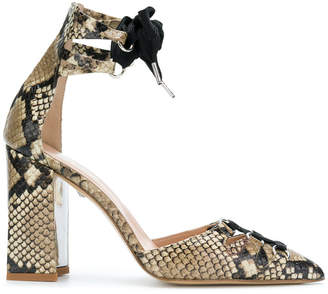 Just Cavalli snake effect court pumps