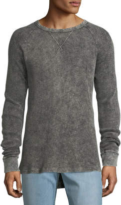 Hudson Men's Distressed Long-Sleeve Thermal Shirt
