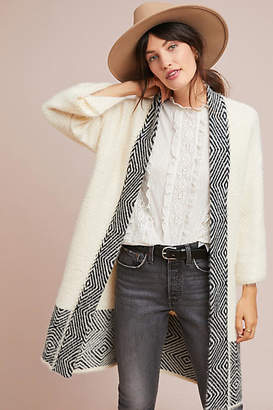 Anthropologie Cozy Graphic Kimono