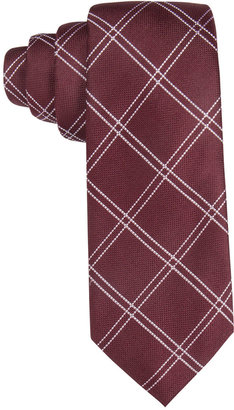 Tasso Elba Men's Textured Grid Slim Tie, Only at Macy's $59.50 thestylecure.com