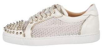 Christian Louboutin Spiked Mesh Sneakers