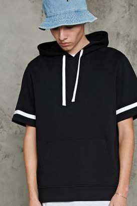 Forever 21 Stripe-Sleeve Hooded Pullover