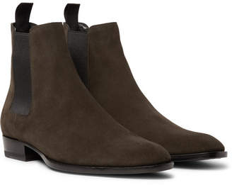 Saint Laurent Wyatt Suede Chelsea Boots - Men - Brown