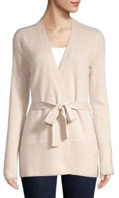 Lord & Taylor Cashmere Belted Cardigan