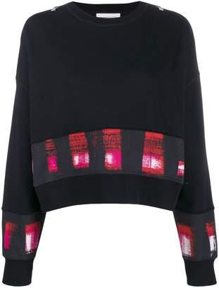 Alexander McQueen printed panels boxy sweatshirt