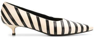 Sonia Rykiel striped pointed kitten heels