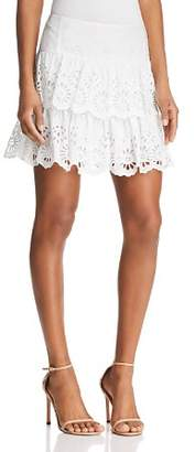 Rebecca Minkoff Nell Tiered Eyelet Mini Skirt