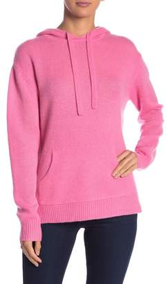 360 Cashmere Bow Knit Hooded Cashmere Pullover