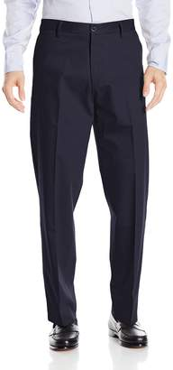 Dockers Relaxed Fit Signature Khaki Pant - Flat Front D4, Black Stretch, 36x30