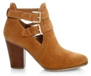 MICHAEL Michael Kors Walden Suede Buckle Ankle Boots