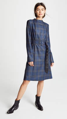 Toga Pulla Wool Check Dress