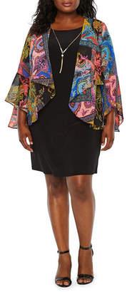 BLU SAGE Blu Sage 3/4 Sleeve Jacket Dress - Plus