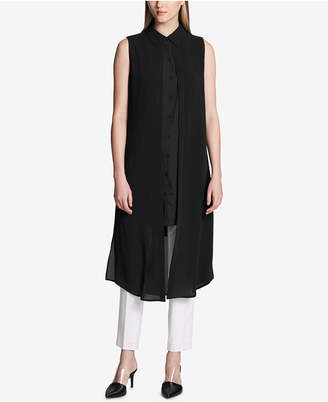 Calvin Klein Layered Sleeveless Popover Tunic