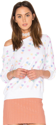 Wildfox Couture Sweethearts Baggy Beach Jumper $108 thestylecure.com