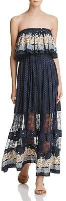FREEWAY Ruffle Strapless Maxi Dress $98 thestylecure.com