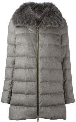 Herno fox fur collar coat