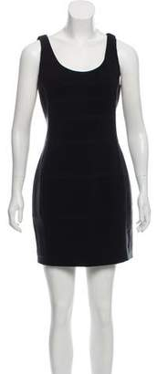 Charlotte Ronson Leather trim Shift Dress
