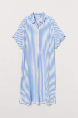 H&M Viscose Shirt Dress - Blue