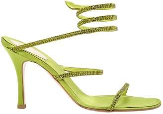 Rene Caovilla Green Polyester Sandals