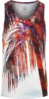 River Island Mens Big and Tall White palm print vest