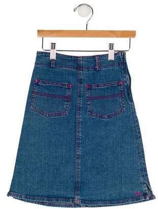 Sonia Rykiel Girls' Two Pockets Denim Skirt