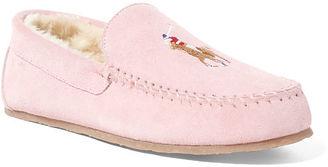 Polo Ralph Lauren Markel Suede Moccasin Slipper $75 thestylecure.com