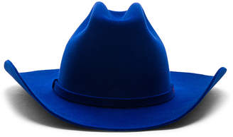 27950e86459 Calvin Klein Cowboy Hat in Electric Blue