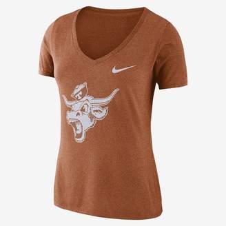 Nike College Tri-Blend Mid-V Vault Logo (LSU) Women's T-Shirt