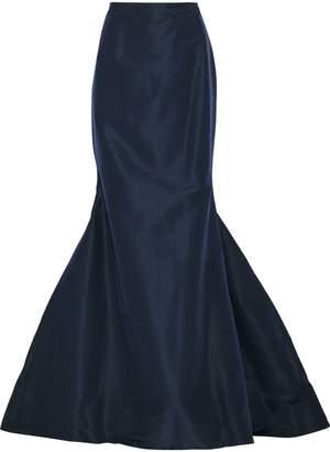 Carolina Herrera Fluted Silk-faille Maxi Skirt