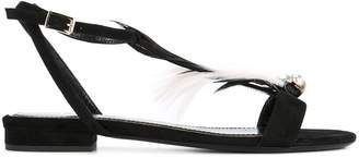 Lanvin feathered sandals
