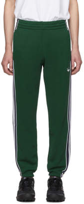 adidas Green 3-Stripe Lounge Pants