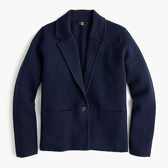 J.Crew Margot cropped sweater-blazer