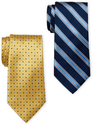 U.S. Polo Assn. Two-Pack Stripe & Dot Printed Ties