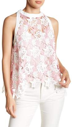 Gracia Floral Lace Sleeveless Blouse