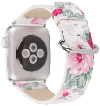BIANFA For Apple watch band, Women Girl with Stainless Metal Clasp Series 3 Series 2 Series 1,nice and soft