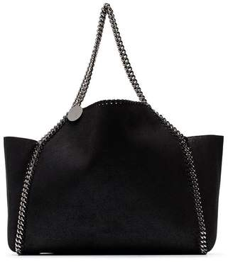 Stella McCartney black Falabella reversible shoulder bag